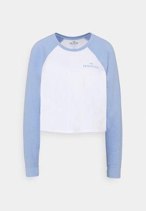 PRINT - Top sdlouhým rukávem - lav luster blue