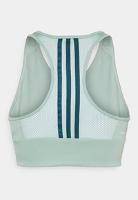 adidas Performance - Light support sports bra - green/teal/white - 1