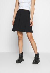 Even&Odd - 2 PACK - A-line skirt - black/red - 3