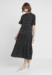 Topshop - SPOT PRINT CHUCK - Maxi dress - black - 1