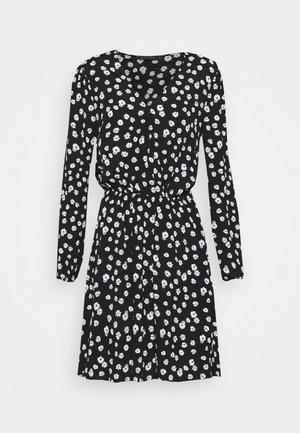 DITSY WRAP MINI - Day dress - black