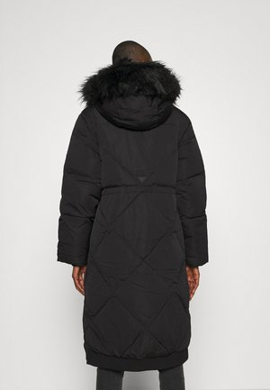 SVEVA LONG JACKET - Dunkåpe / -frakk - jet black