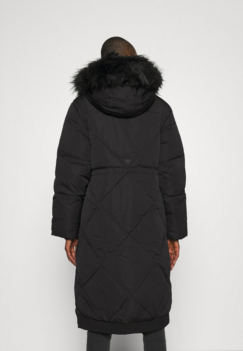 Guess - SVEVA LONG JACKET - Down coat - jet black