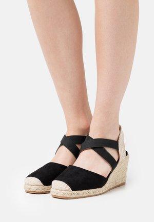 Sandalen met sleehak - nero