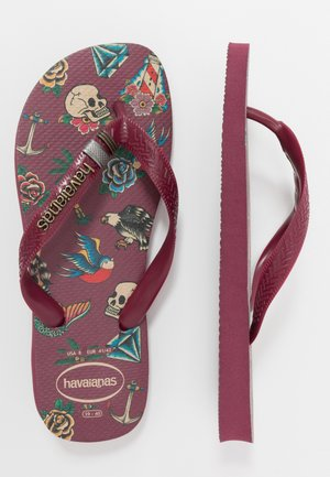 TOP TRIBO - Pool shoes - bordeaux