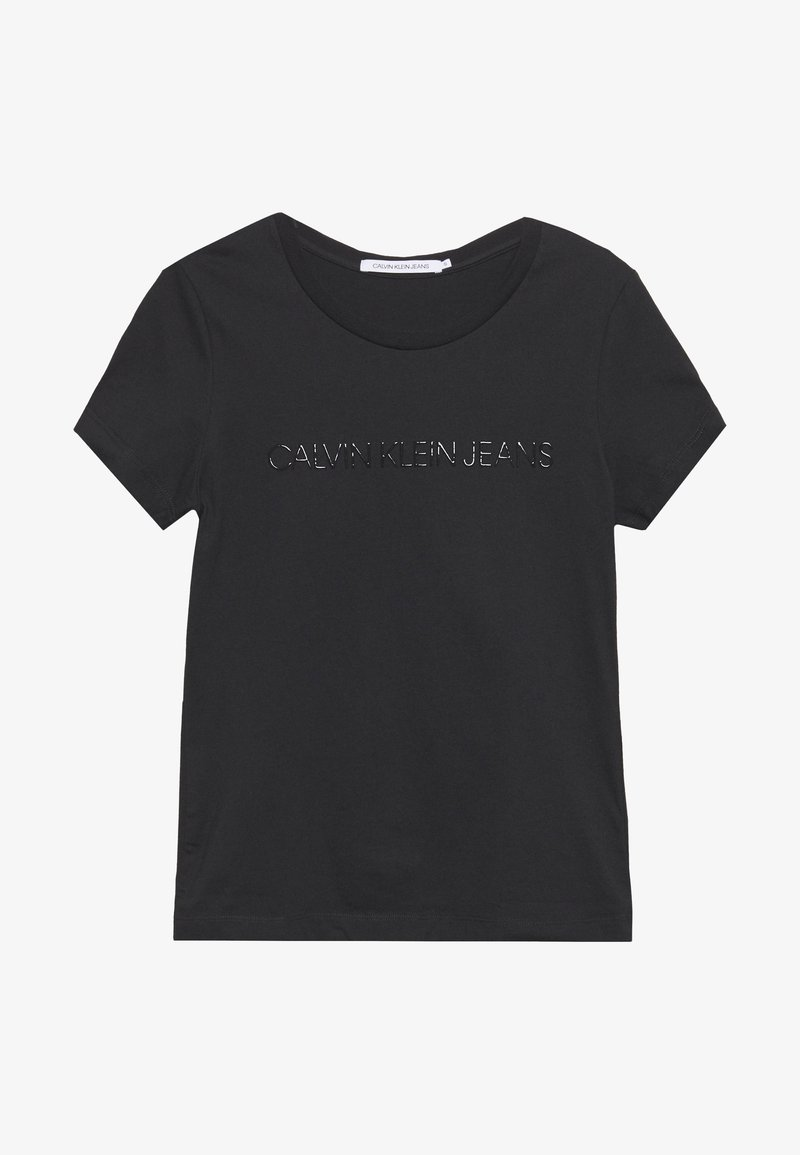 Calvin Klein Jeans - LOGO SLIM FIT TEE - Print T-shirt - black beauty