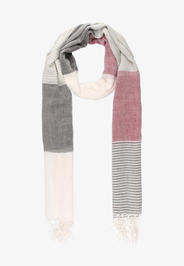 SERIE CANEVA - Scarf - off-white, brown
