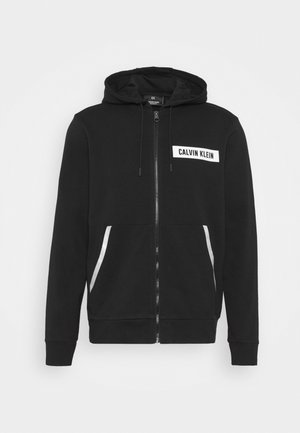 HOODIE - Zip-up hoodie - black