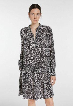 Shirt dress - black offwhite