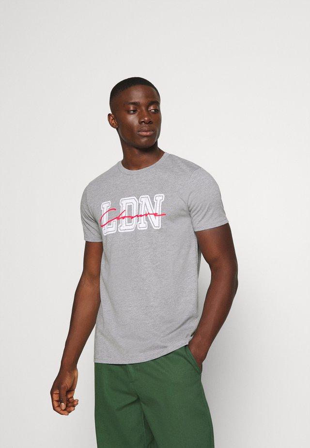 COLLEGE TEE - T-shirt print - grey