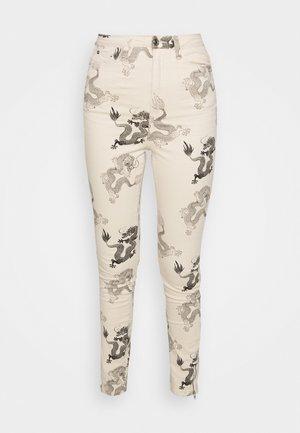 DRAGON PRINT SPLIT SINNER  - Jeans Skinny - beige