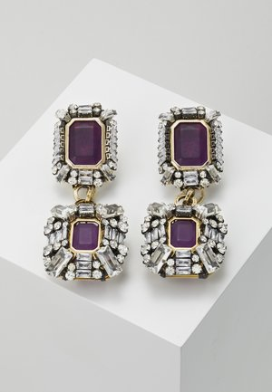 Earrings - violet