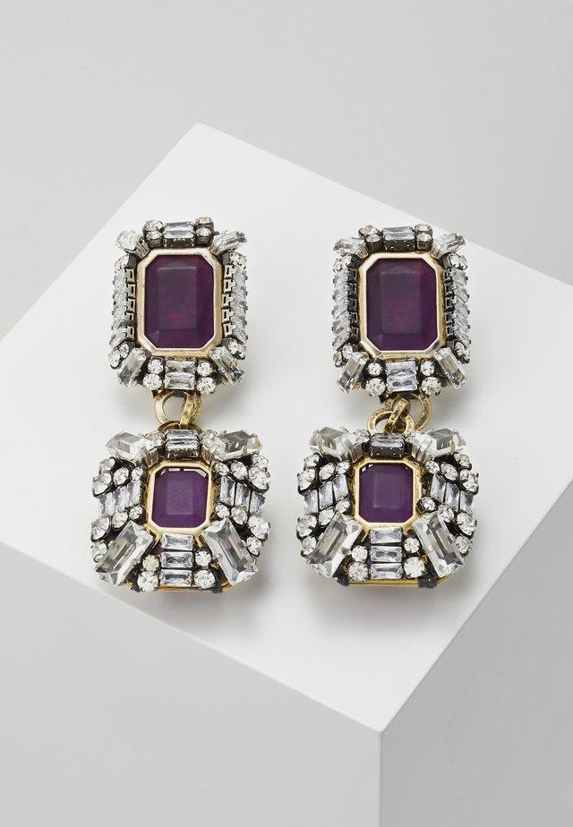 Oorbellen - violet