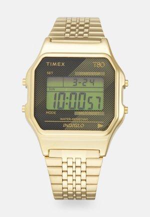 T80 UNISEX - Digital watch - goldtone/black
