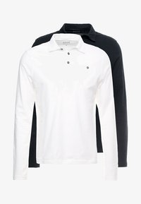 BASIC 2 PACK  - Polo shirt - black/white