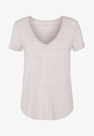 DAY TO NIGHT - Print T-shirt - white/tan