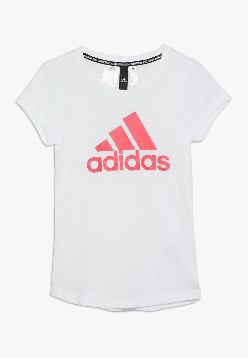 adidas Performance - YG MH BOS TEE - Camiseta estampada - white