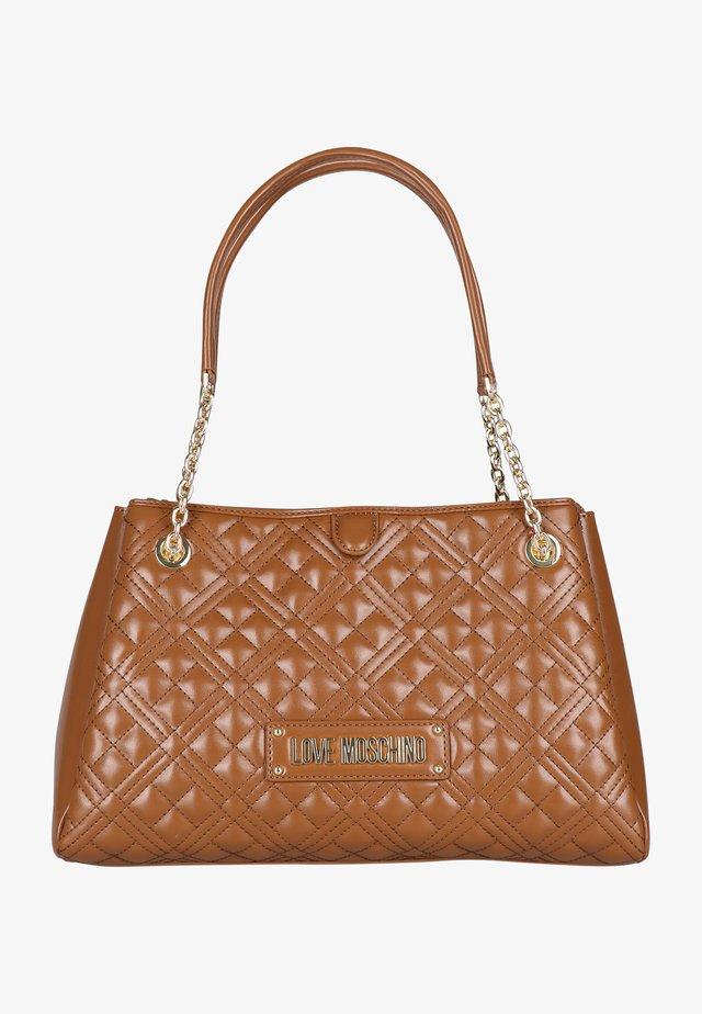 MIT STEPPUNG - Handbag - cognac