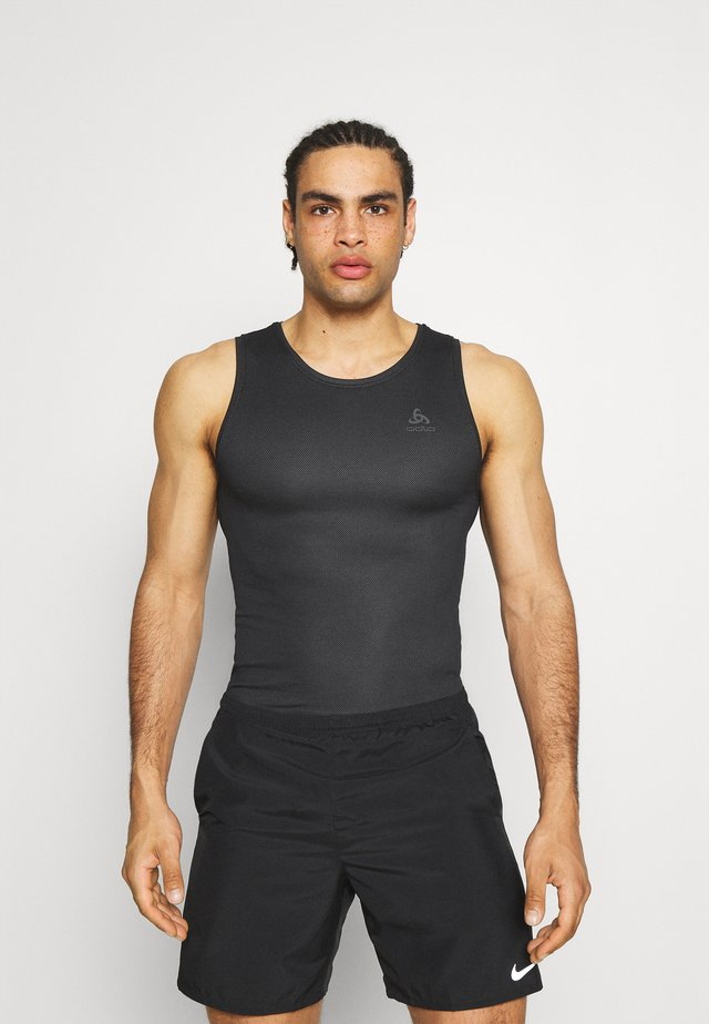 ACTIVE F DRY LIGHT CREW NECK TANK - Toppi - black