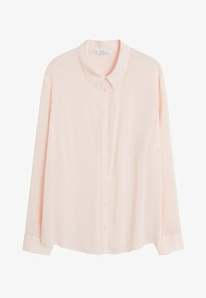 FLIESSENDES HEMD - Button-down blouse - nude