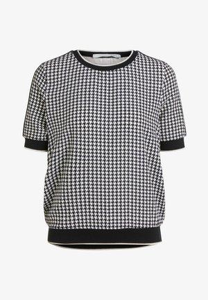 Print T-shirt - black/offwhite
