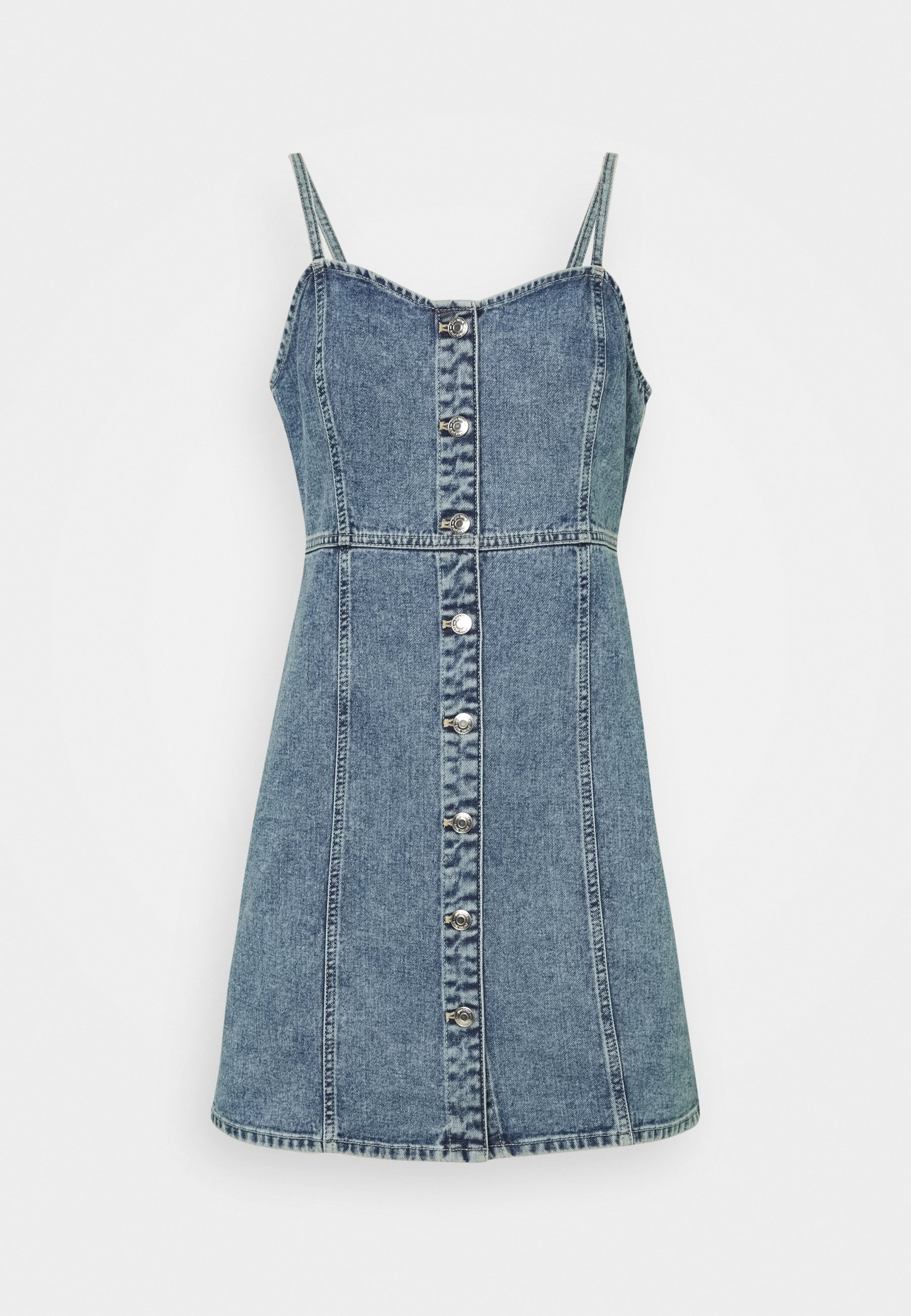 Damen STRAP DRESS - Jeanskleid
