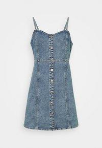 Gina Tricot - STRAP DRESS - Denimové šaty - blue - 0