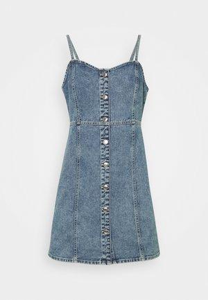 STRAP DRESS - Denim dress - blue