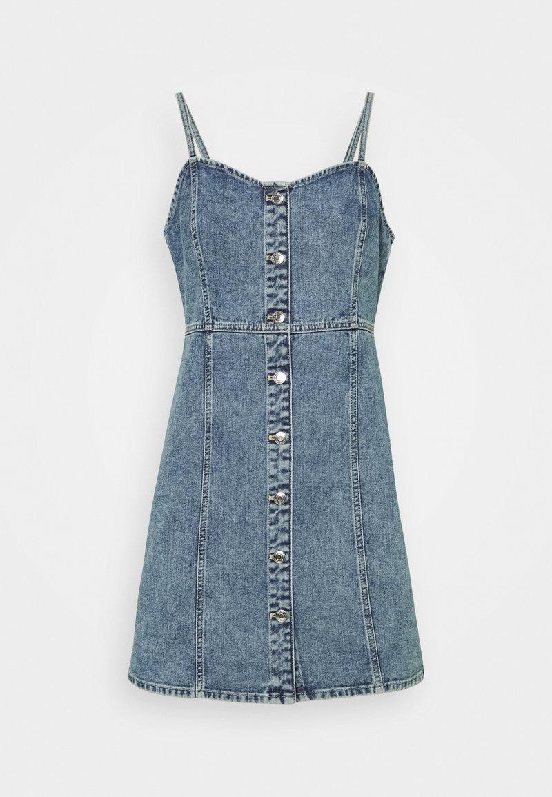 Gina Tricot - STRAP DRESS - Denimové šaty - blue