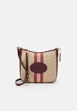 NAW SIGNATURE WITH BRANDING CHAISE CROSSBODY - Across body bag - light khaki/wine