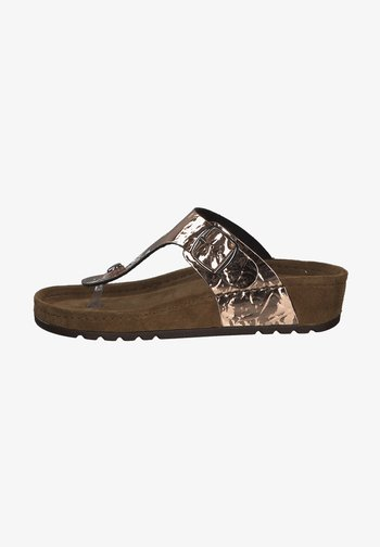 T-bar sandals - kupfer
