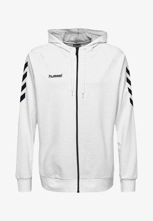 ZIP HOODIE - Zip-up hoodie - white