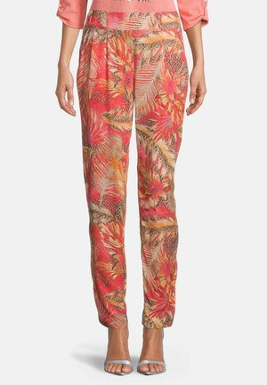 Trousers - red/camel