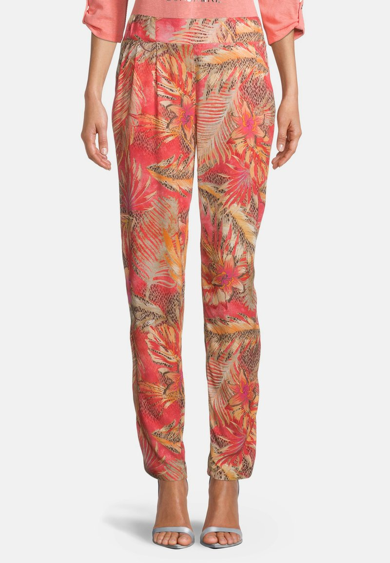 Betty Barclay - Trousers - red/camel