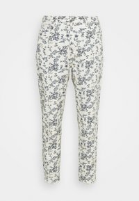 FLORAL RIOT - Relaxed fit jeans - white