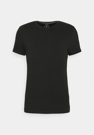 BASIC CREW NECK TEE - T-paita - black