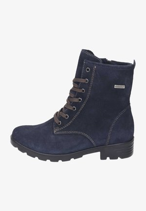 Lace-up ankle boots - see