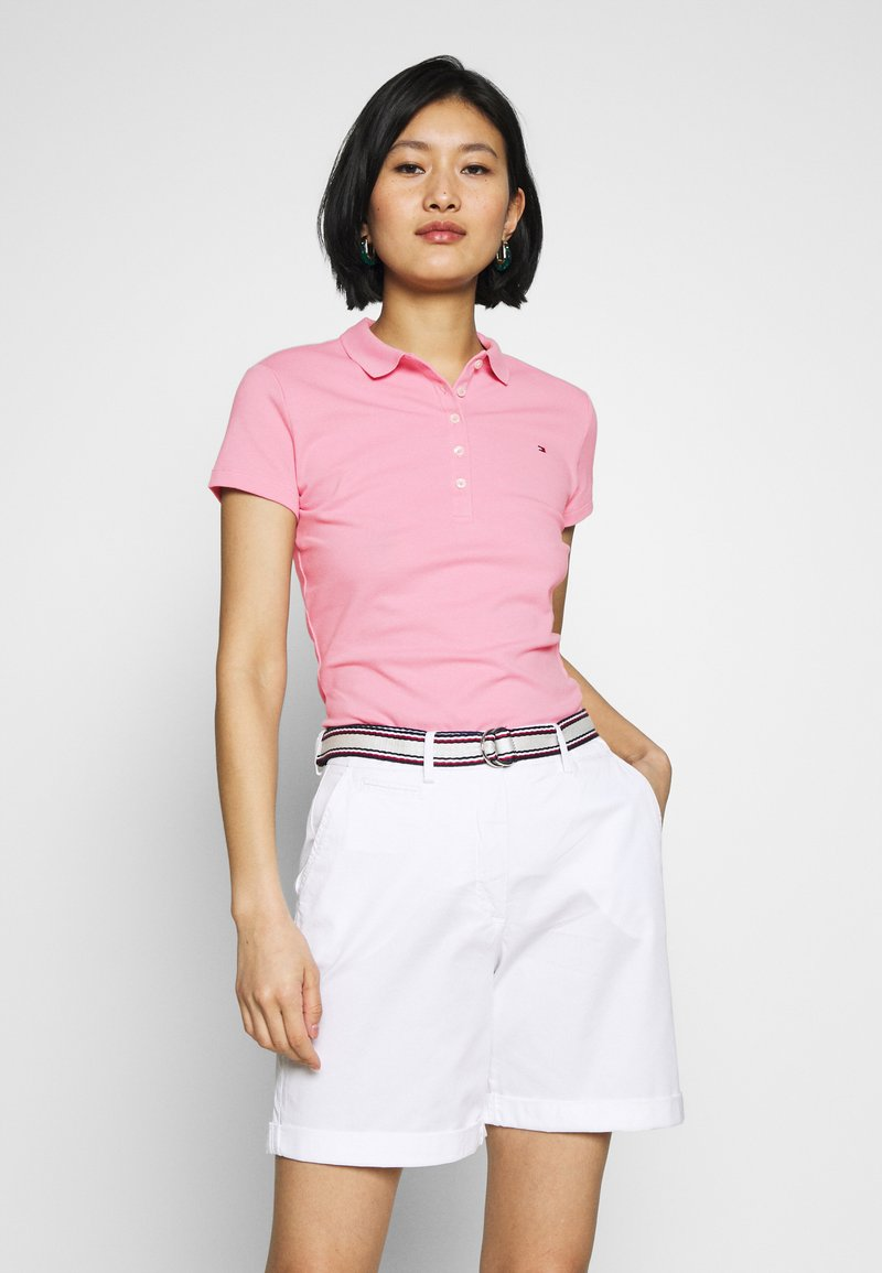 Tommy Hilfiger - NEW SHORT SLEEVE SLIM - Poloskjorter - matte pink