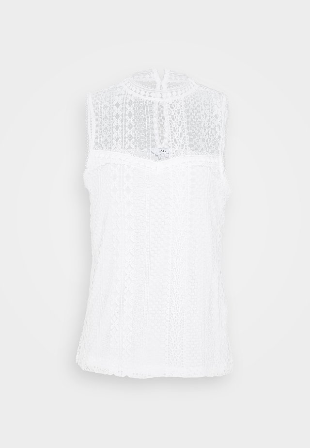SLEEVELESS VEST - Top - white