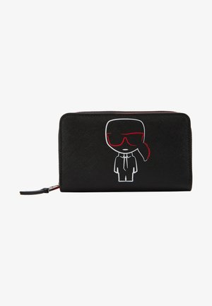 IKONIK FOLDED ZIP WALLET - Portefeuille - black