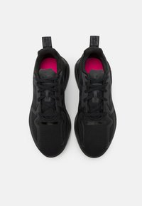 adidas Originals - ZX 2K FLUX UNISEX - Sneakersy niskie - core black/shock pink