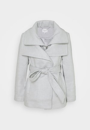 APRIL CROPPED COAT - Abrigo - grey marl