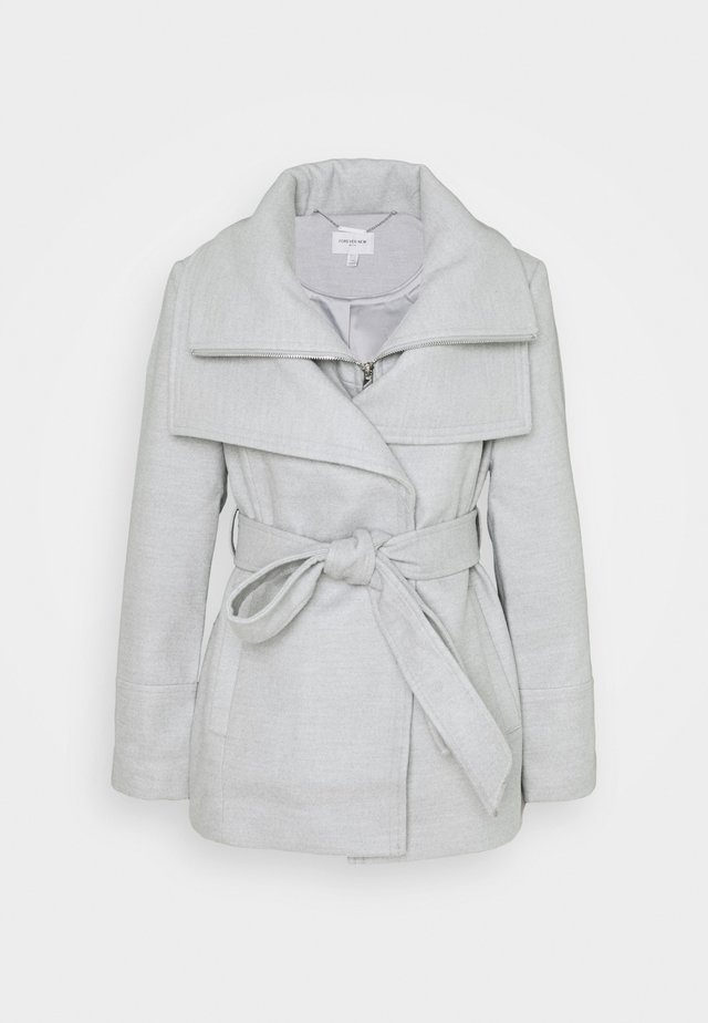 APRIL CROPPED COAT - Zimní kabát - grey marl
