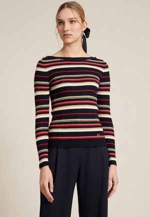 MARAMEO  - Jumper - black, red, off-white
