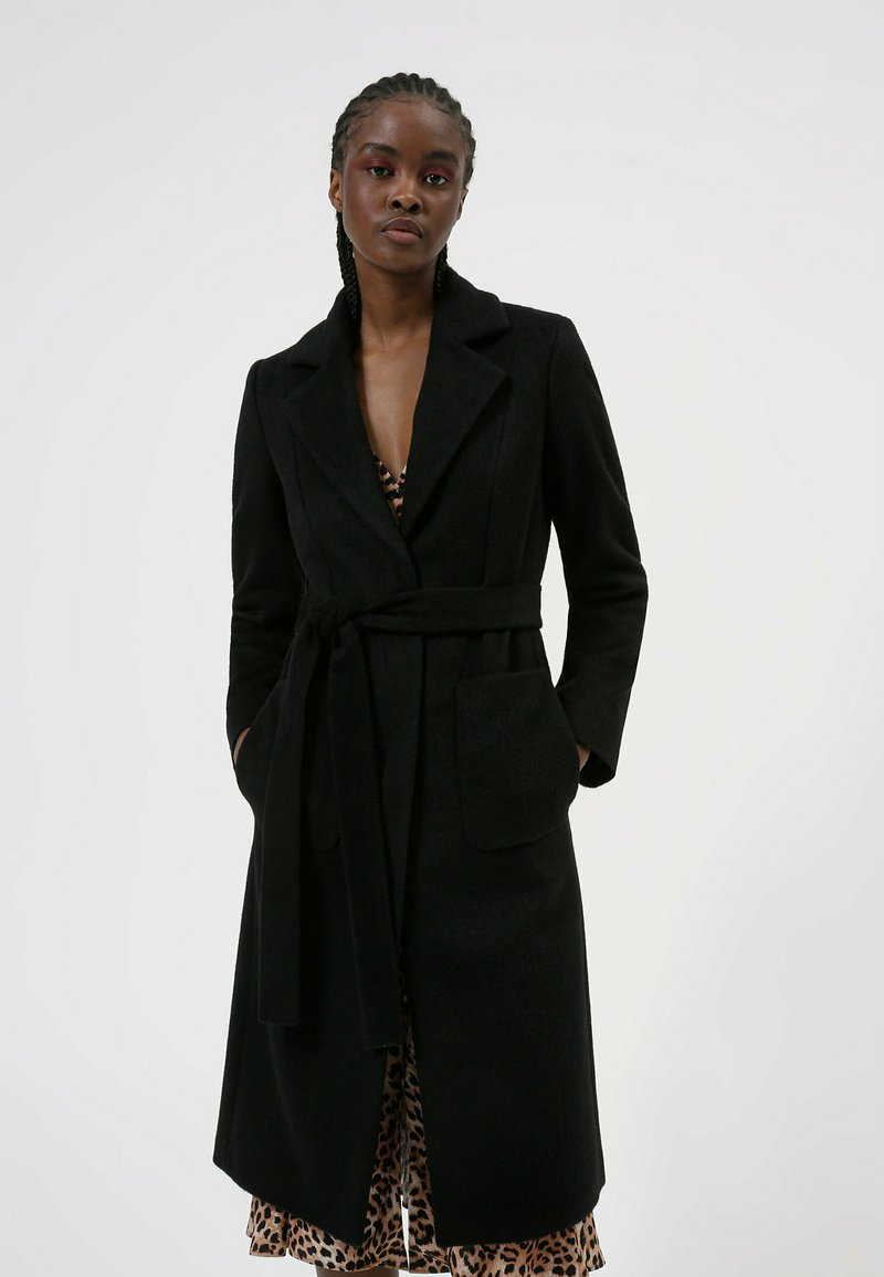 HUGO - MESUA - Klasyczny płaszcz - black