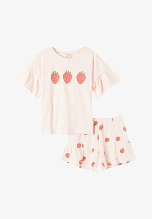 MIT ERDBEERPRINT UND VOLANT - Pyjama set - sweet pink