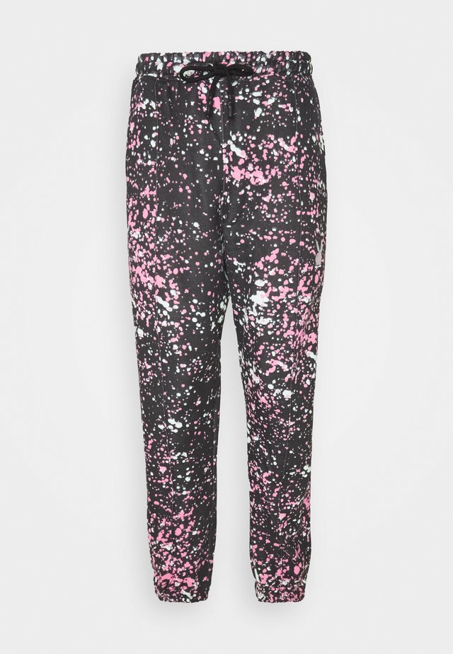 PLAYBOY ACID WASH OVERSIZED JOGGERS - Spodnie treningowe - black