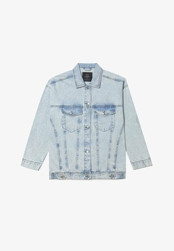 OVERSIZE - Denim jacket - light blue