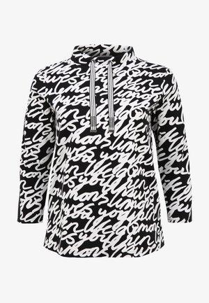 Sweater - schwarz/weiß