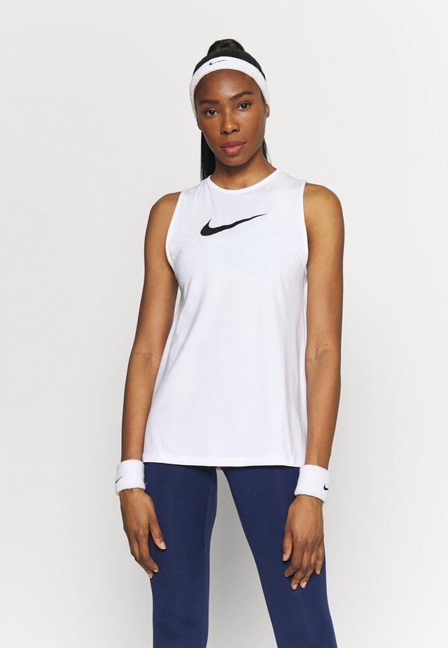 TANK OPEN - Funkční triko - white